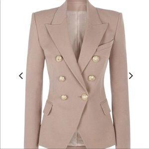 Love Labels Nude Blush Pink Balmain Style Blazer